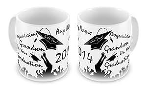 Cualquier nombre personalizado de felicitación Nieto en tu graduación 2014 diseño de taza