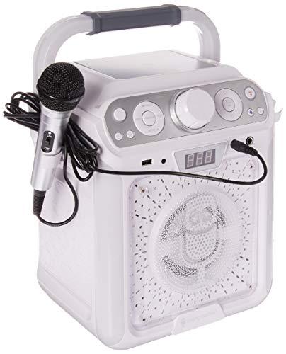 Cdg Portable System Karaoke (Singing Machine SML682BTW Groove Cube CDG Karaoke System, White ()