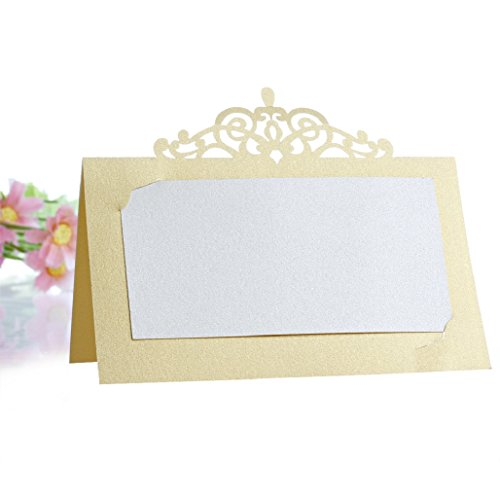 Wrisky 50Pcs Wedding Party Place Name Cards Personalised/Tableware/Seating Decoration ()