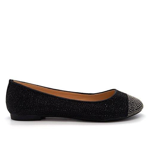 Damen Ballett, schwarz - schwarz - Größe: 41 London Footwear