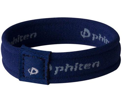 (Phiten 2nd Gen Titanium Bracelet, Navy, 6.75-Inch)