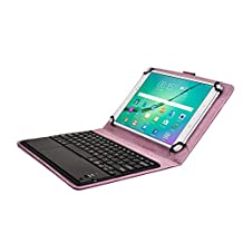 Asus Transformer Pad TF103C TF300T TF303K keyboard case, COOPER TOUCHPAD EXECUTIVE 2-in-1 Wireless Bluetooth Keyboard Mouse Leather Travel Cases Cover Holder Folio Portfolio + Stand TF300TG (Purple)