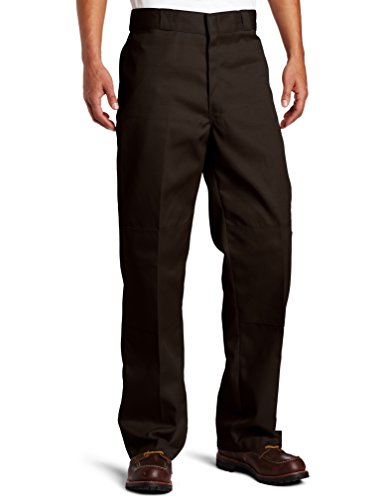 Dickies Men's Loose Fit Double Knee Twill Work Pant, Dark Brown, 40W x 32L ()