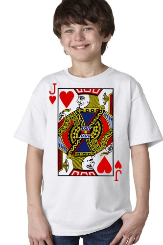 JACK OF HEARTS Youth T-shirt / Card Costume Tee Shirt, Magic Trick Tee
