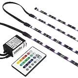 RGB TV HINTERGRUNDBELEUCHTUNG FÜR 42-60 ZOLL (107-152cm) - LED LEISTEN - STRIP Set Band Leiste Lichtleiste Licht Backlight - KOMPLETTSET INKL. FERNBEDIENUNG UND NETZTEIL - Gr. L