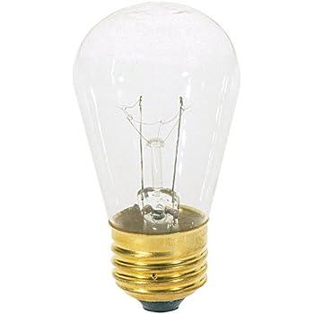 Satco S3965 130v Medium Base 11 Watt S14 Light Bulb Clear