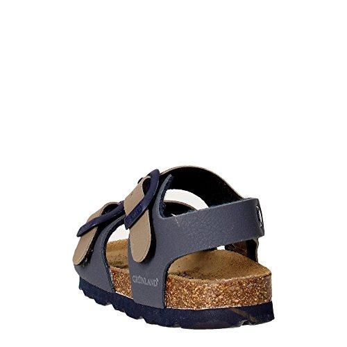 Grunland Junior sb0025Trieur Sandales Kid - multicolore - Beige/bleu, 25