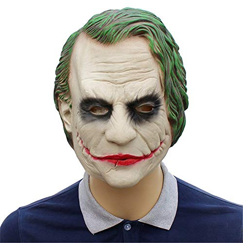 Wetietir Festival Mask Halloween Batman Clown Mask Latex Headgear Dark Knight Mask Movie Props mask Costume -