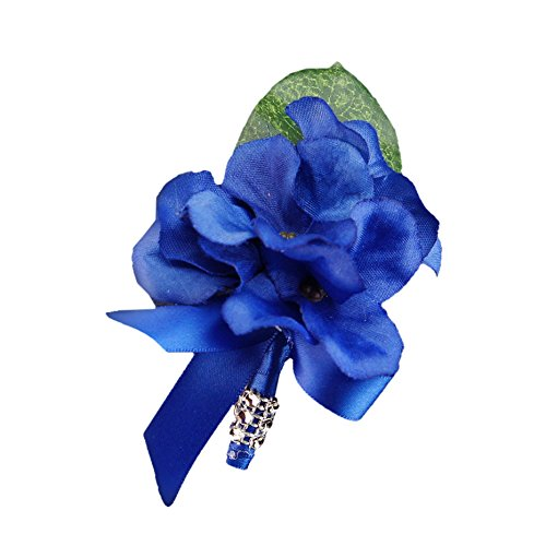 Hydrangea Ribbon (Boutonniere -Royal Hydrangea,ribbon& Bling Stem.pin Included)