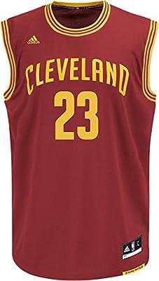 Lebron James Cleveland Cavaliers NBA Adidas Men's Replica Jersey - Burgundy