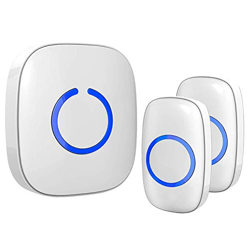 Wireless Doorbell for Home - SadoTech Waterproof Doorbell & Chimes Wireless Kit - At Over 1000-feet Range with 52 USA Doorbell Chime