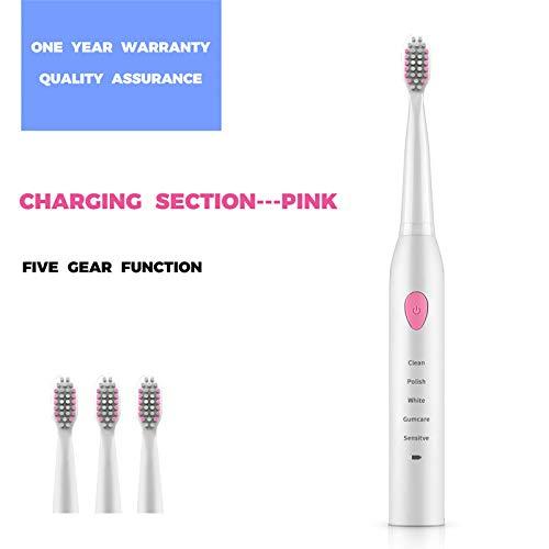 A 5 modalit/à Doreleven Spazzolino elettrico Denti Automatico Ultrasonico Astuto spazzolino USB ricaricabile impermeabile per adulti