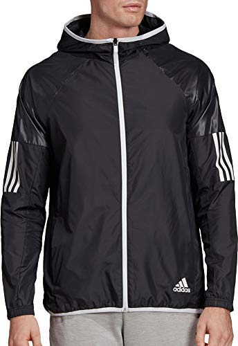 - adidas Men's Sport 2 Street Windbreaker Jacket - Black/White, Small
