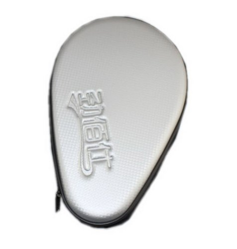 Silver Hard Cover for Tabel Tennis Paddle and Balls, PingPong Racket Bag by Panda Superstore