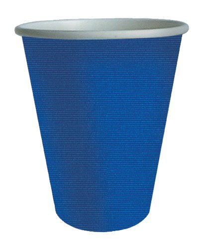 Paper Cups Party Cups Insulated Cups Drinking Glasses Bulk 32 Count Blue for Hot or Cold by Caspari