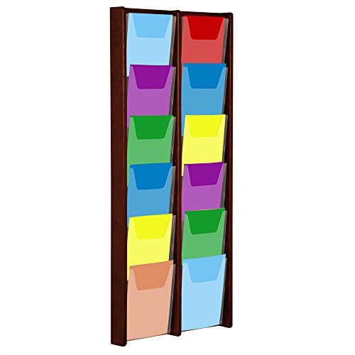 Wooden Mallet 12-Pocket Stance Wall Display, Light -