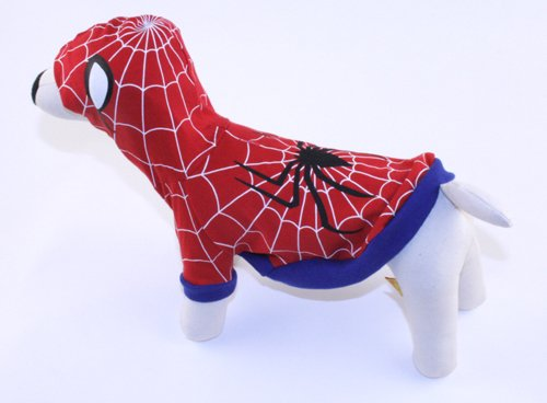 Spider-Dog Deluxe Superhero Costume for Dogs by Puppe Love (Size 5 (14