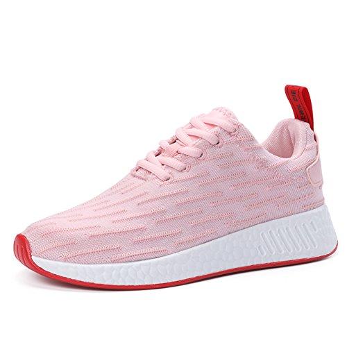 Coppia Unisex Uomo Donna Casual Sportivo Atletico Sneakers Traspirante Slip-on Chukka Per Guidare Viaggiare 0667 Rosa Per Le Donne