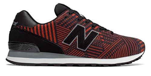 フレア簡単な彼自身(ニューバランス) New Balance 靴?シューズ メンズライフスタイル 574 Beaded Black with Flame ブラック フレーム US 11.5 (29.5cm)