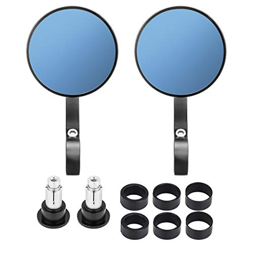 kemimoto Motorcycle Handlebar Bar End Mirrors Rearview Mirror Universal 7/8