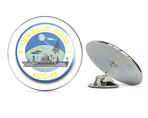 US Navy USS Blue Ridge LCC-19 Military Veteran USA Pride Served Gift Metal 0.75