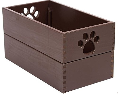 Dynamic Accents Amish Handcrafted Pet Toy Box - Mahogany