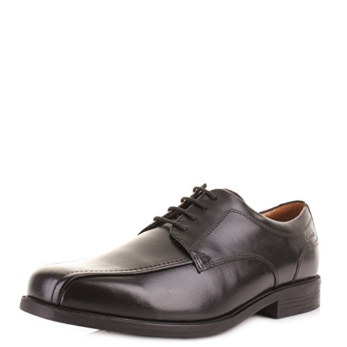 Clarks Beeston Stride Smart schwarz Herren Leder Schuhe Work Office Lace up