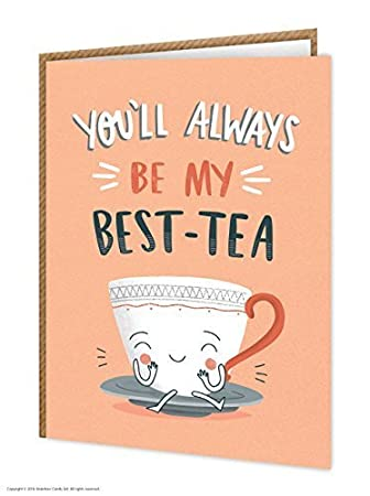 Funny Humorous Best Tea Birthday Card Amazon Office Products