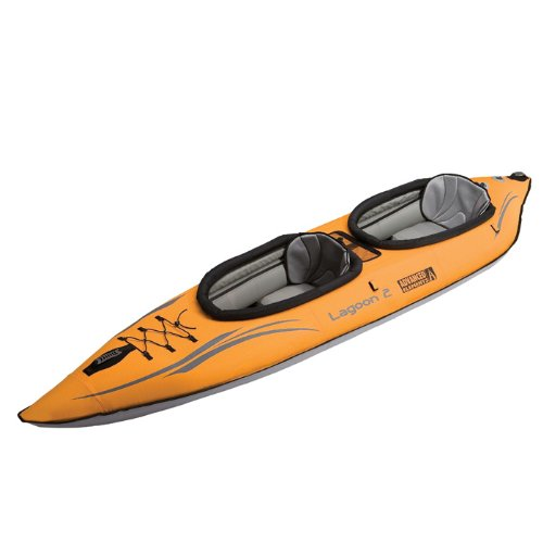 Lagoon Inflatable - ADVANCED ELEMENTS Lagoon 2 Tandem Inflatable Kayak-Orange