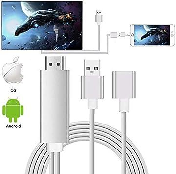 Ozvavzk Smartphone a HDMI, Micro USB a HDMI Cable Convertidor ...
