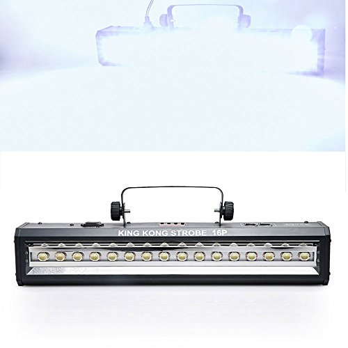 DMX Sound Control 16LEDs Floodlight Party Disco DJ Bar Light Music Show Projector White Bright LightingEffect laser disco light by BLMART