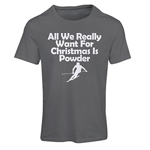 T Shirts for Women All We Need for Christmas is Powder - Merry Xmas (XX-Large Graphite Multi Color)]()