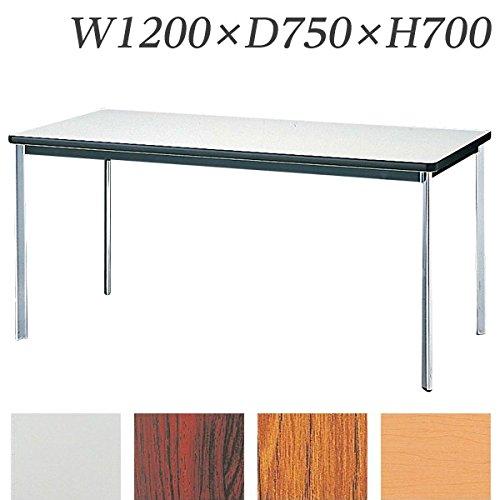 生興 テーブル KTD型会議用テーブル W1200×D750×H700 4本脚タイプ 棚なし KTD-1275O ローズ B015XOL13W ローズ ローズ