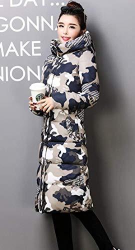Longue Manteaux avec du Ghope Jacket Genou Femme Chaud Capuche Fourrure Hiver Camouflage Blouson Manteau Parka Longueur F8Wx5fpwq