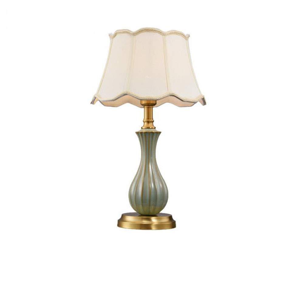 Waiweißeuropäischen stil tischlampe Kreative schlafzimmer tischlampe dekoration nachttischlampe Umgebungs tischlampe augenschutz tischlampe (ohne lichtquelle)