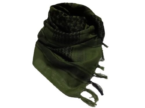 Miritarian high quality Afghan stall neck scarf high quality muffler [110 x 110 cm] Olive (japan import) by Miritarian
