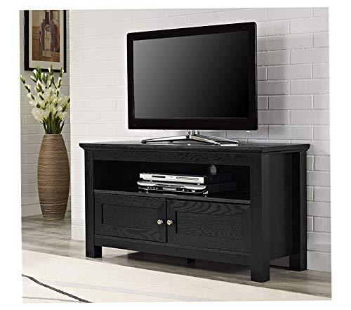 Deluxe Premium Collection 44 inches Cortez TV Stand Console Black Decor Comfy Living Furniture