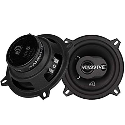Massive Audio MX5 MX Series Coaxial Speakers. 80 Watts, 4 Ohm, 40w RMS Heavy Duty 5 Inch Coaxial Audio Speakers. Enjoy Crystal Clear Sound with These Great Coaxial Speaker System (Sold in Pairs): Home Audio & Theater