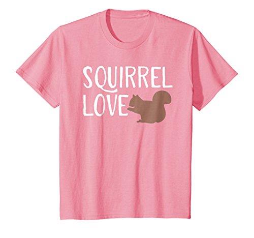 Kids Squirrel Love Shirt - Cute Squirrel T Shirt 8 Pink