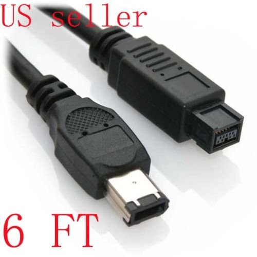 - FYL 6Ft 9-Pin to 6-Pin FireWire 800/400 Cable IEEE-1394b (3 Feet) IE9496-3
