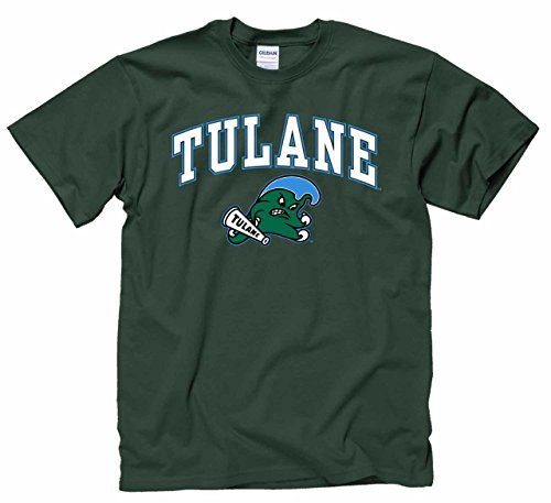 (Campus Colors Tulane Green Wave Adult Arch & Logo Soft Style Gameday T-Shirt - Green, X-Large)
