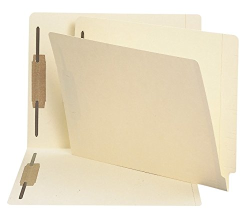 Smead End Tab Fastener File Folder, Shelf-Master Reinforced Straight-Cut Tab, 2 Fasteners, Letter Size, Manila, 250 per Box (34125) by Smead