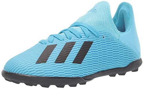 adidas Unisex-Kid's X 19.3 Turf Soccer Shoe, Bright Cyan/Black/Shock Pink, 5.5 M US Big Kid