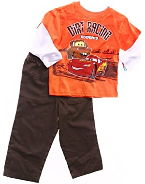 Cars Infant Boys 2pc Set ''Dirt Racing Buddies ''