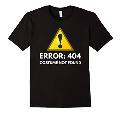 [Men's Error: 404 Costume Not Found Shirt Small Black] (Costume Not Found 404)