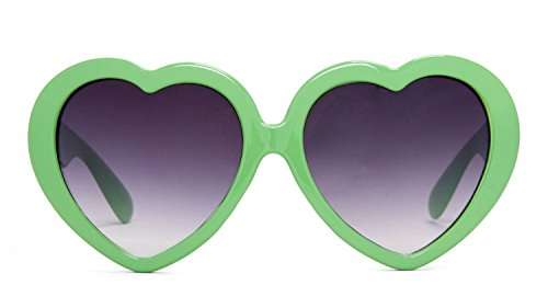 Gravity Shades Heart Shaped Lolita Sunglasses - Apple Green