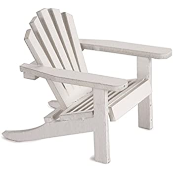 12 Timeless Minis Miniature Furniture Mini White Adirondack Chairs Favors