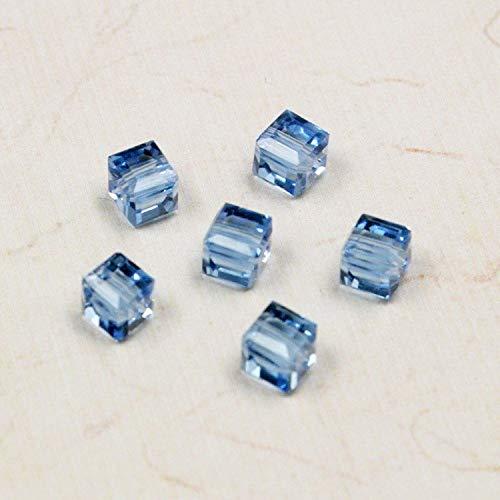 Calvas Hot Fashion Approx 20Pcs/lot Light Blue Square Glass Crystal Beads 66mm BBA007-45
