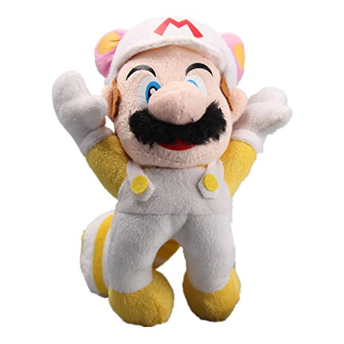 uiuoutoy Super Mario Bros Flying White Raccoon Mario Plush 8'' ()