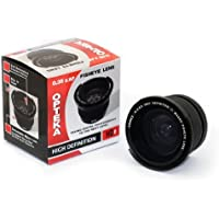 Opteka .35x HD2 Super Wide Angle Panoramic Macro Fisheye Lens for Panasonic Lumix DMC-FZ40 Digital Camera